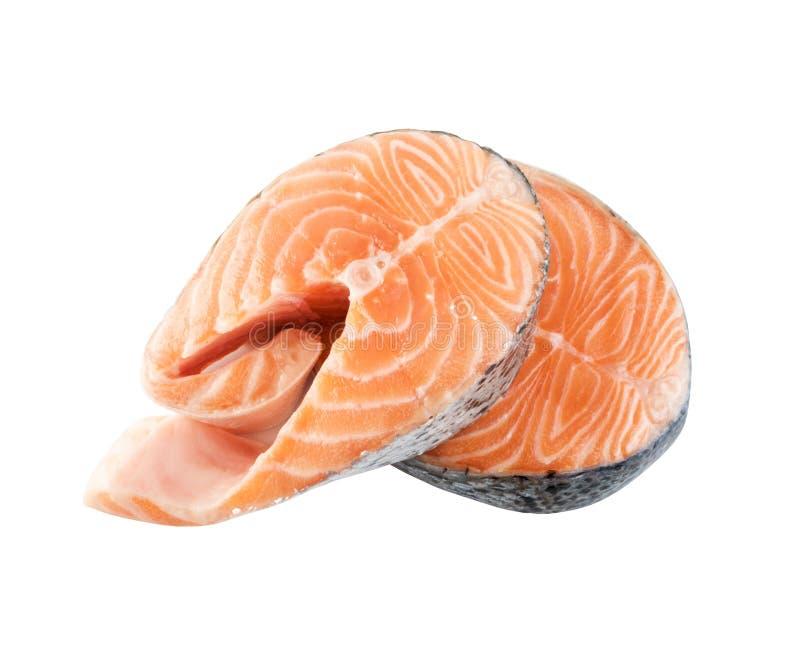 Surowy Różowy Łososiowy stek, rewolucjonistki ryba, kmotr lub pstrąg Polędwicowi, Ciiemy Out fotografia royalty free