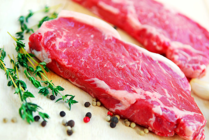 surowy stek obraz stock