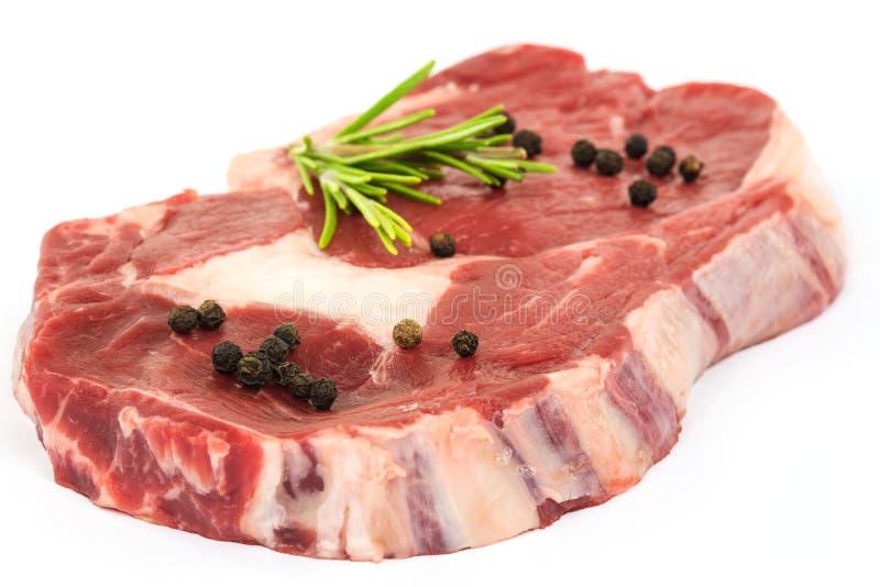 surowy stek obrazy stock