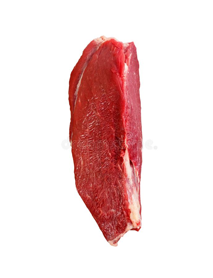 Surowy wołowiny tenderloin odizolowywający na białym tle obraz stock