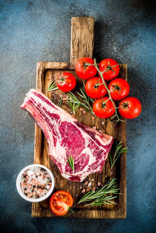 Surowy ziobro oka wołowiny stek fotografia royalty free