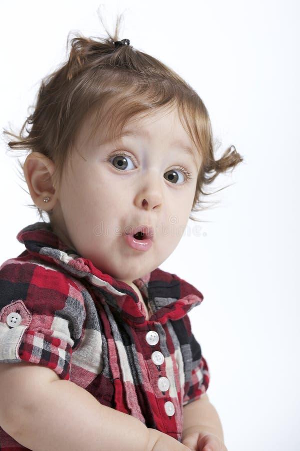 Surpresa do bebê imagem de stock royalty free