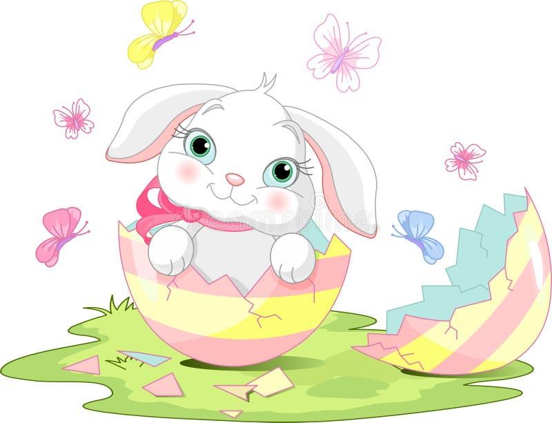 Surpresa do coelho de Easter ilustração royalty free