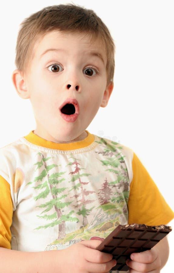 Surpresa do menino foto de stock