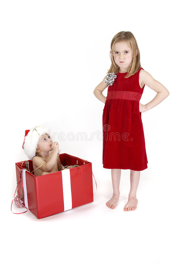 Surpresa do Natal - série fotografia de stock