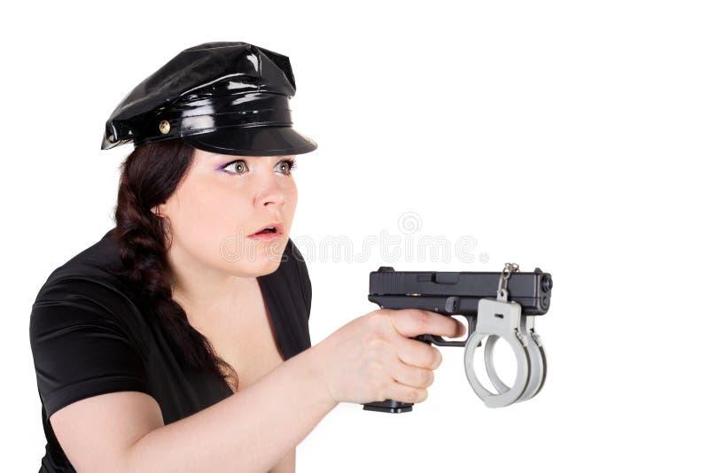 Download Surprise stock image. Image of girl, pistol, female, head - 26576445