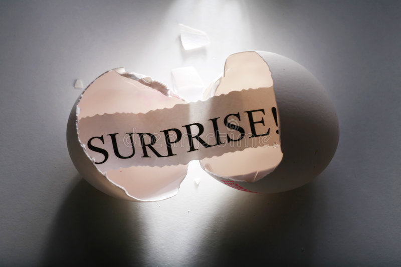 Surprise! stock image