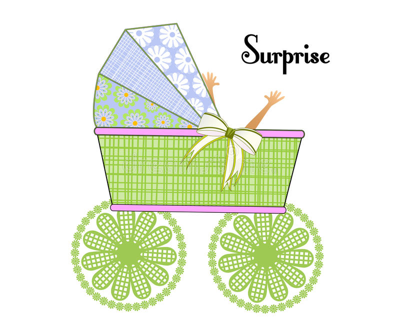 It is a Surprise Baby stock illustration