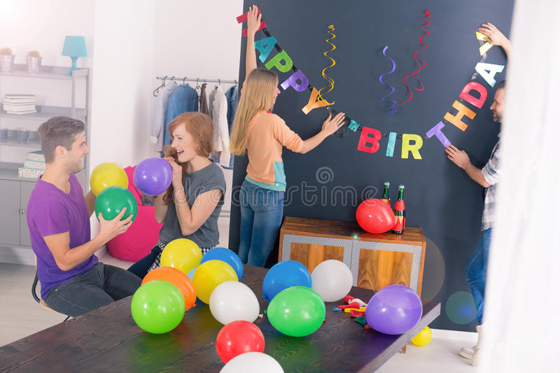 Surprise birthday party stock images