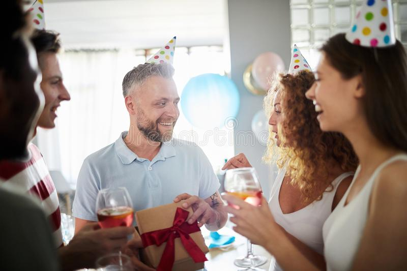 Surprise Birthday Party for Dad royalty free stock photo