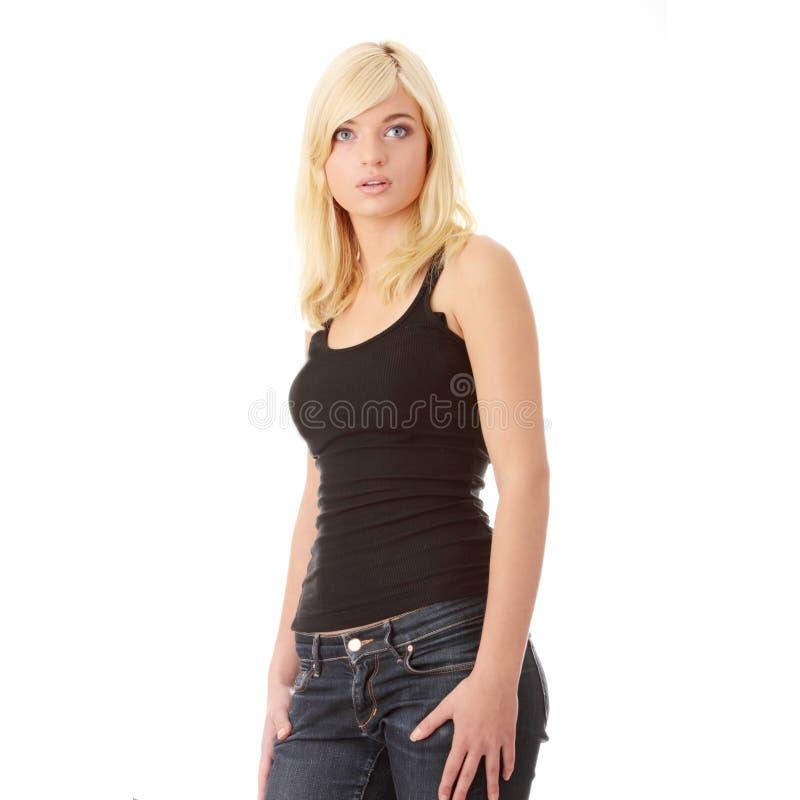 Surprise blonde d'adolescente photos stock