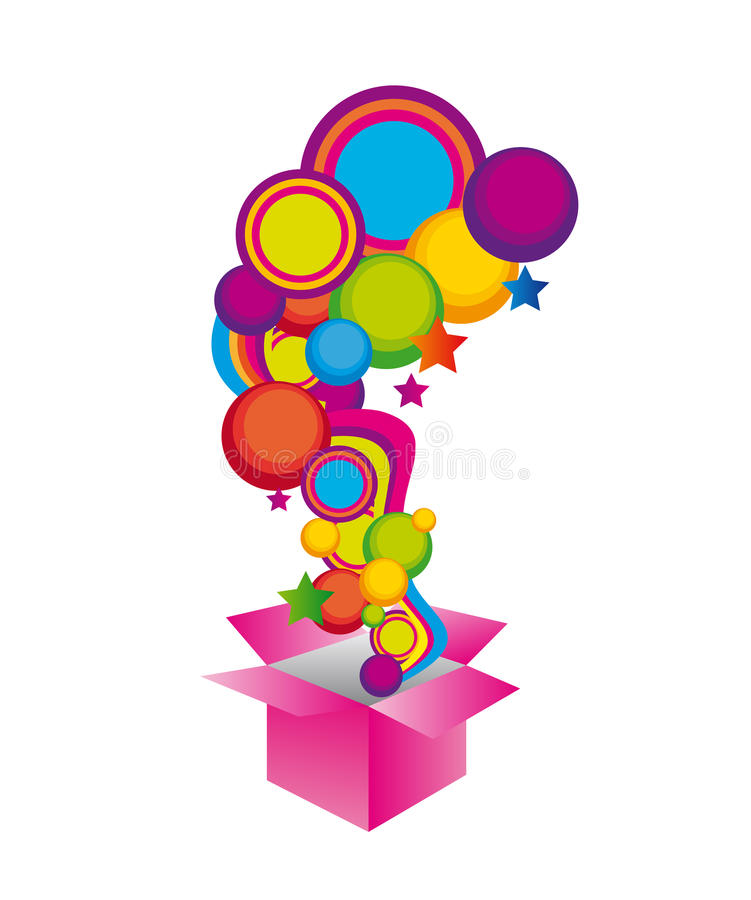 Download Surprise box stock illustration. Image of empty, birthday - 20521856