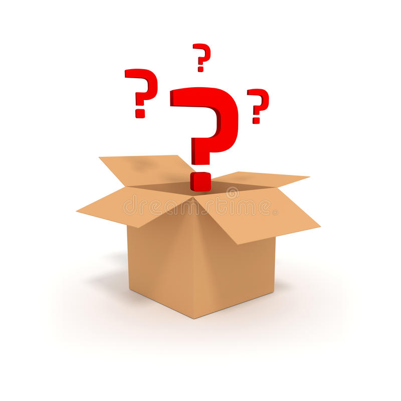Surprise in a box 3D stock illustration