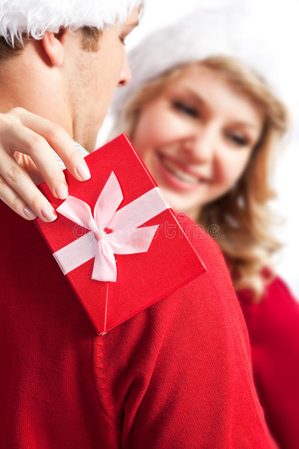 Download Surprise christmas gift stock photo. Image of cheerful - 10929176