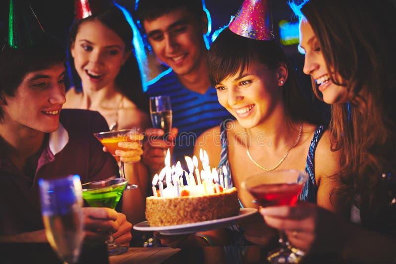 Surprise d'anniversaire photo stock