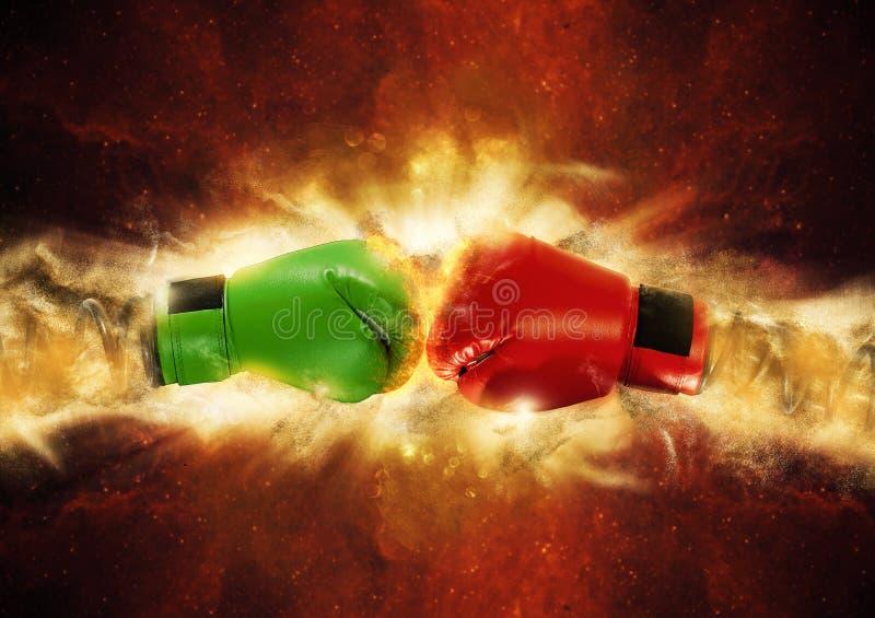 Surprise de gant de boxe photographie stock libre de droits