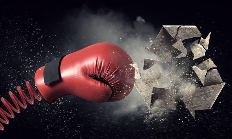 Surprise de gant de boxe Media mélangé images stock