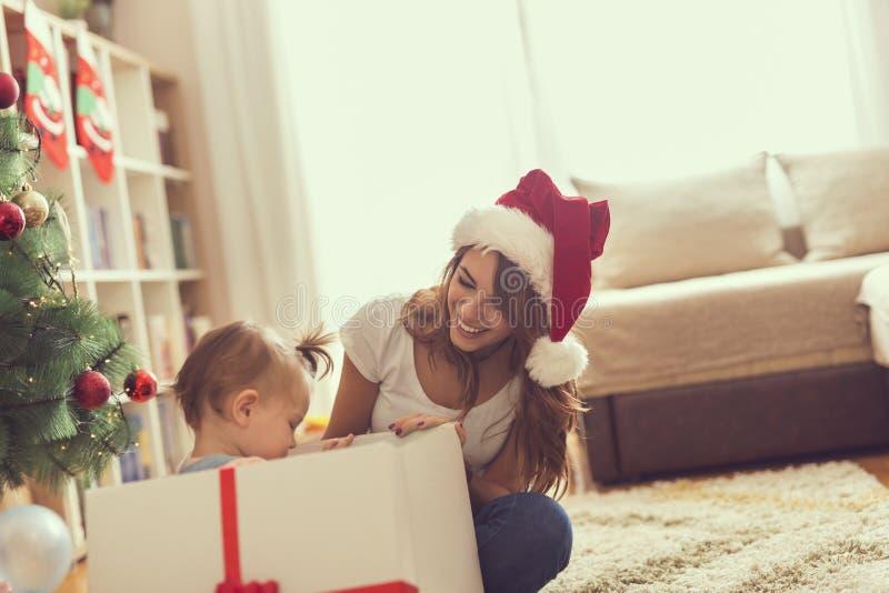 Surprise de Noël photos libres de droits