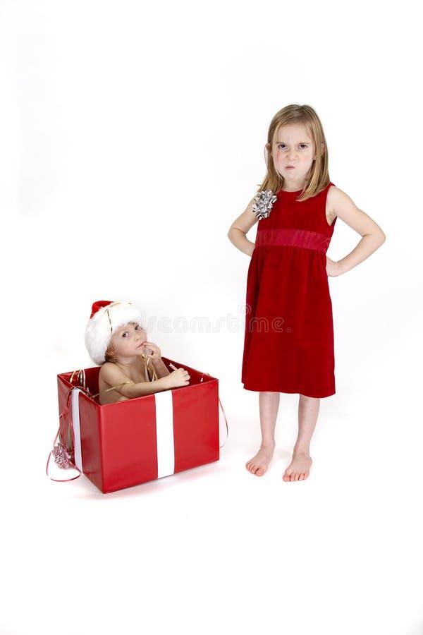 Surprise de Noël - série photographie stock