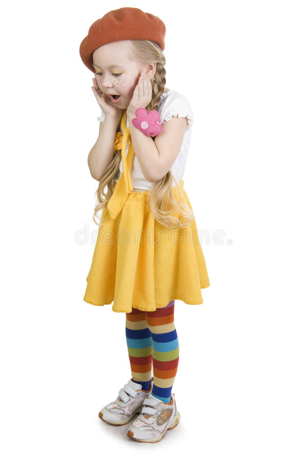 Free Surprise Fashionable Little Girl. Royalty Free Stock Photos - 12967758