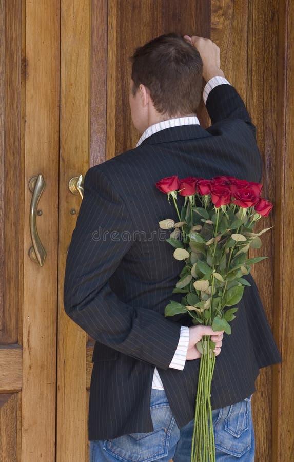 Surprise flowers stock photo
