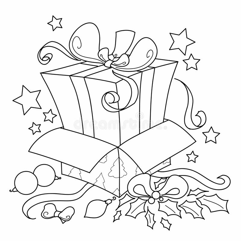 Surprise gift for Christmas vector stock illustration