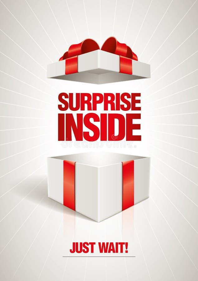 Surprise Inside vector illustration