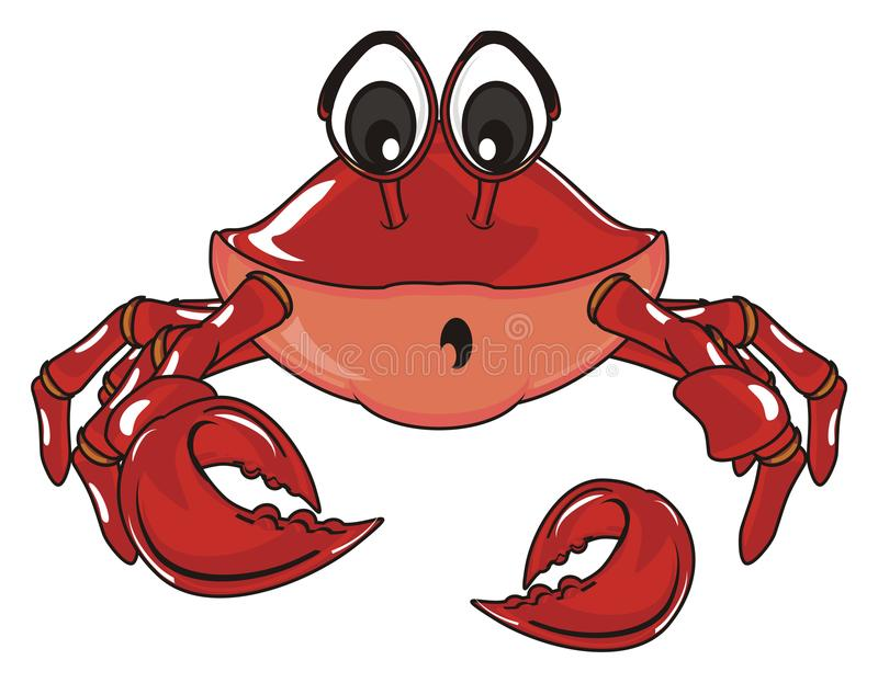 Crab lost a claw stock illustration