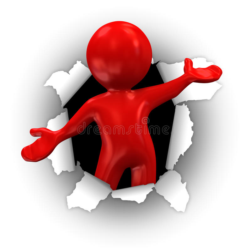 Surprise rouge illustration de vecteur