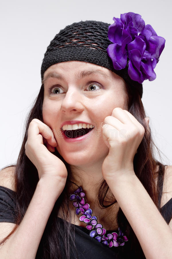 Download Surprised And Amazed Young Woman Looking Stock Image - Image: 38720259