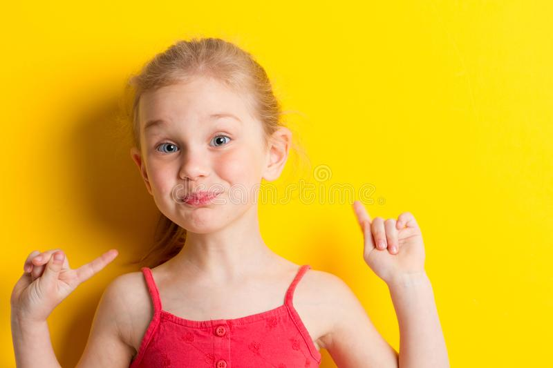 Surprised baby girl royalty free stock photos