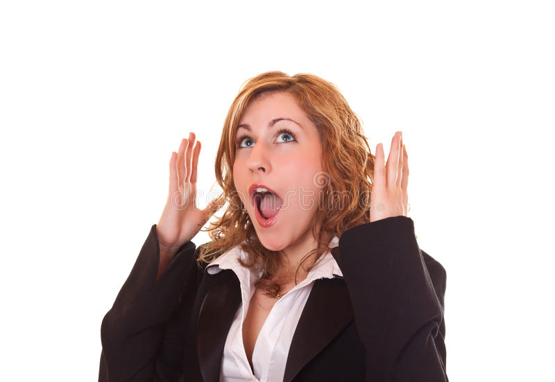 Surprised  Blond Woman Royalty Free Stock Photos