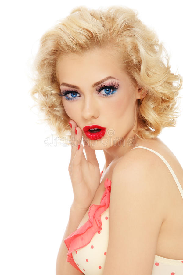 Surprised blonde royalty free stock images