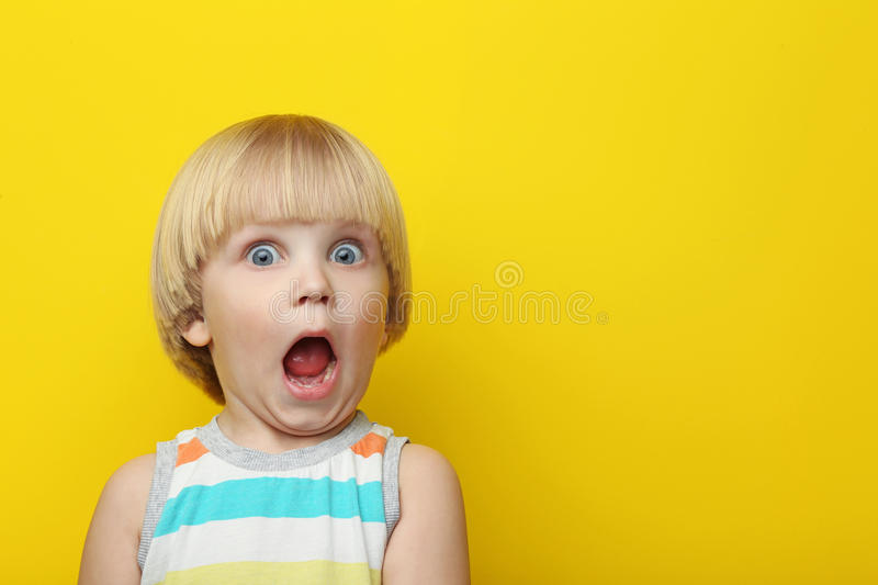 Surprised boy stock image