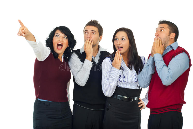 Download Surprised Business People Team Royalty Free Stock Photography - Image: 16361057