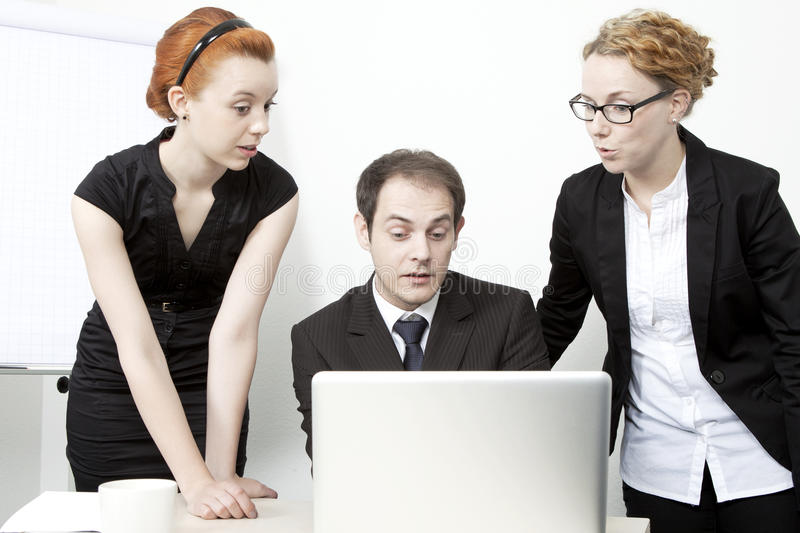 Surprised business team royalty free stock photography