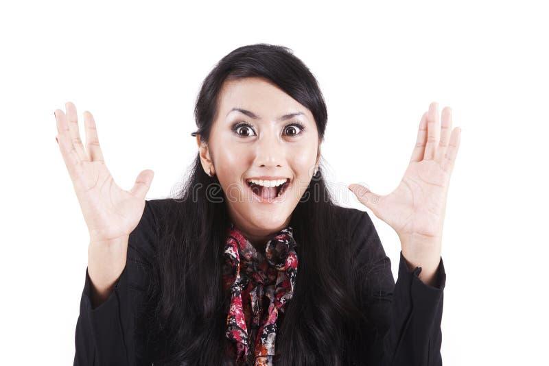 Surprised Businesswoman Royalty Free Stock Image