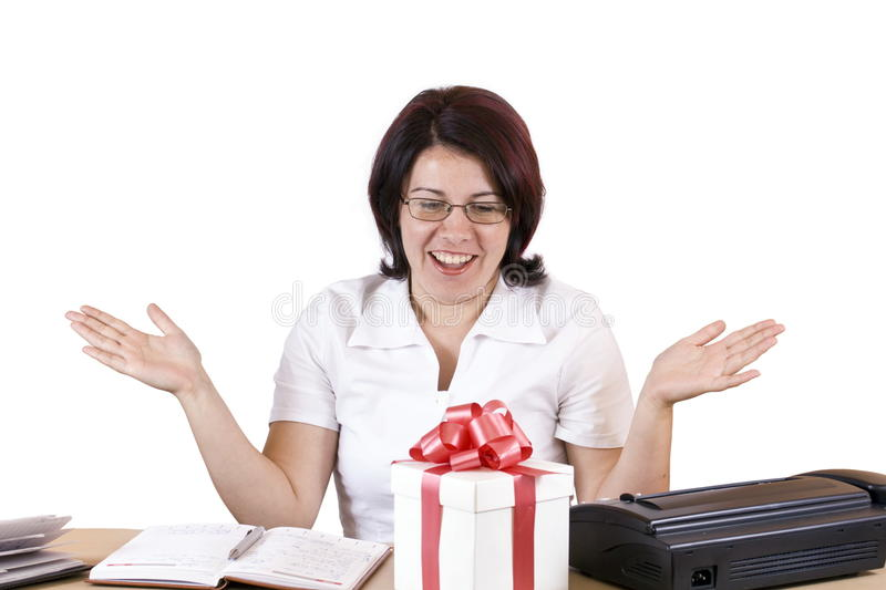 Surprised bussines woman royalty free stock image