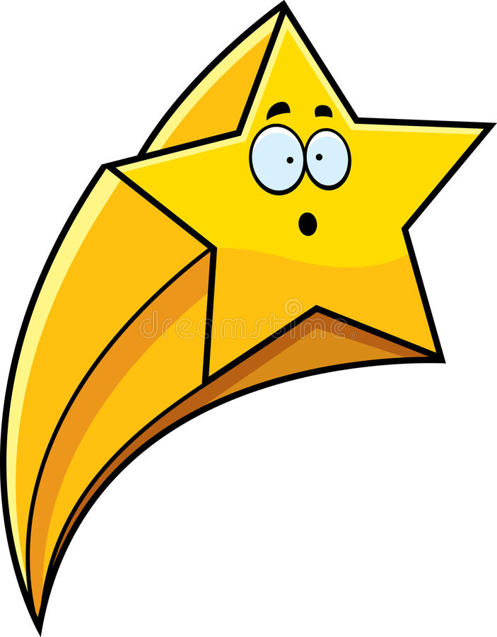 surprised cartoon shooting star stock vector illustration of rh dreamstime com shooting star cartoon clip art shooting star cartoon clip art