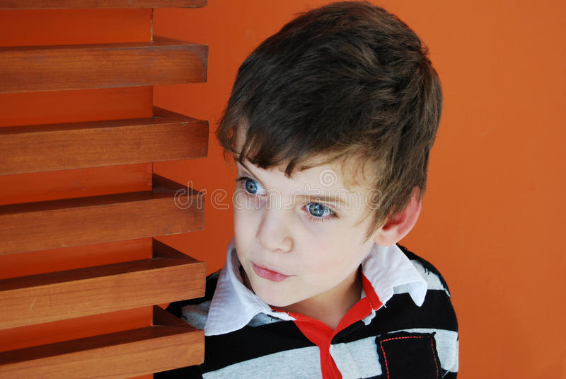 Surprised child. stock image