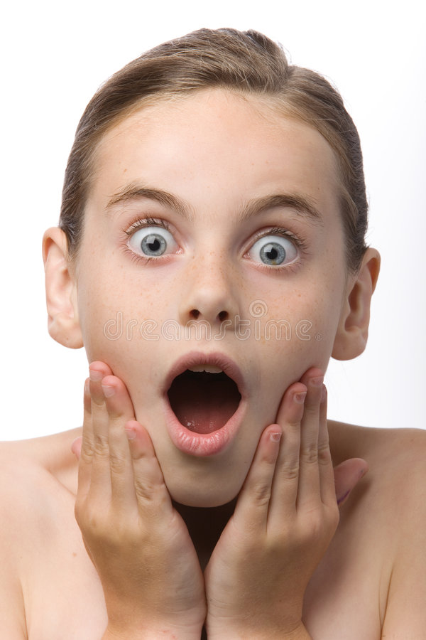 Surprised child stock photo