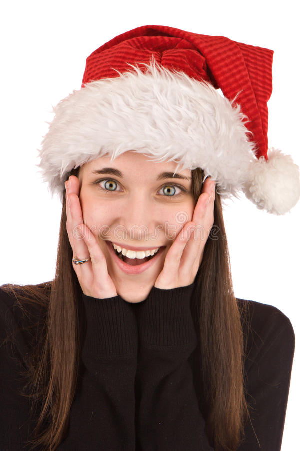 Download Surprised Christmas stock photo. Image of claus, happiness - 11950400