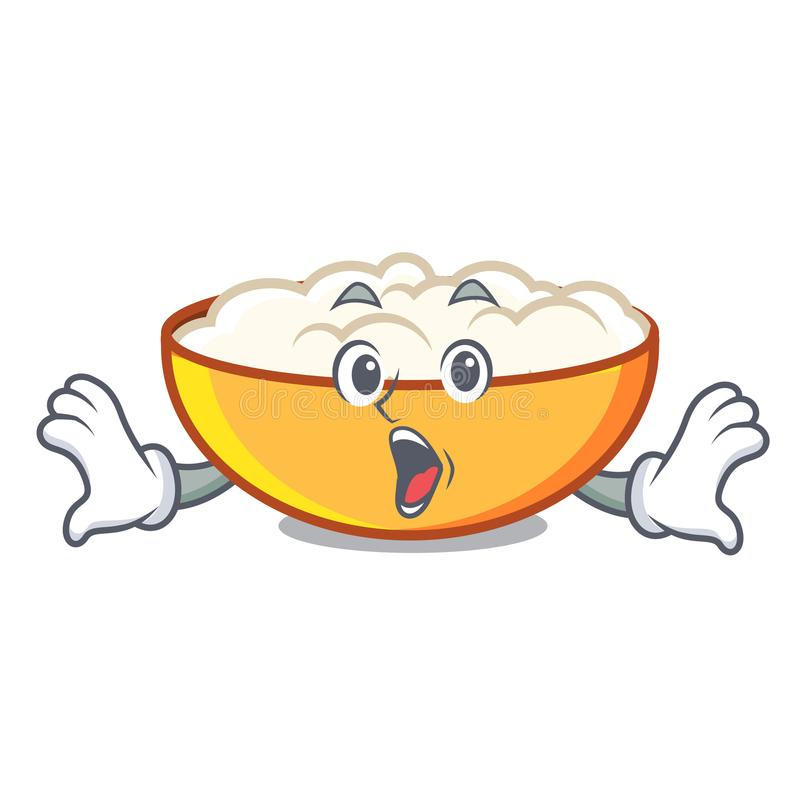 Surprised cottage cheese mascot cartoon. Vector illustration vector illustration