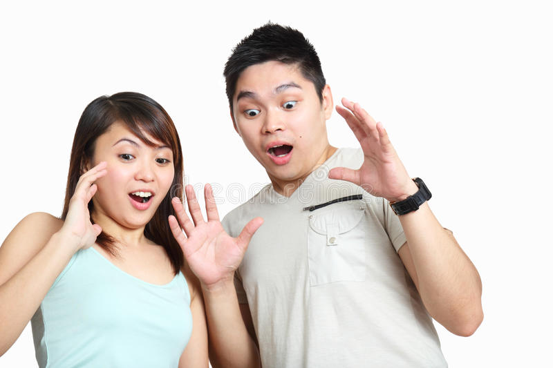 Download Surprised couple stock image. Image of boyfriend, expression - 22243723
