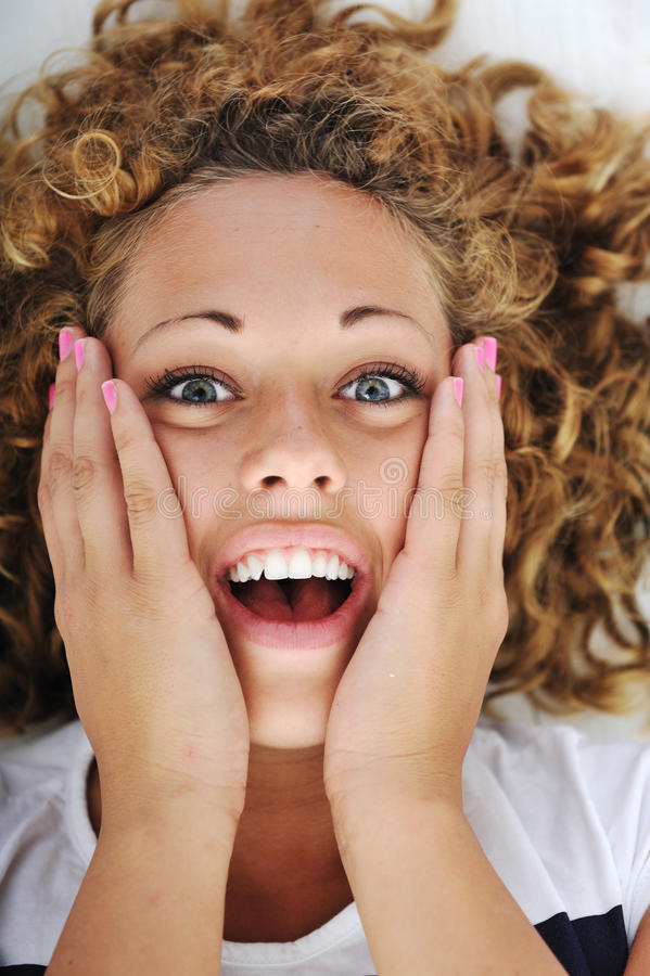 Download Surprised excited woman stock photo. Image of adult, eyes - 24517482