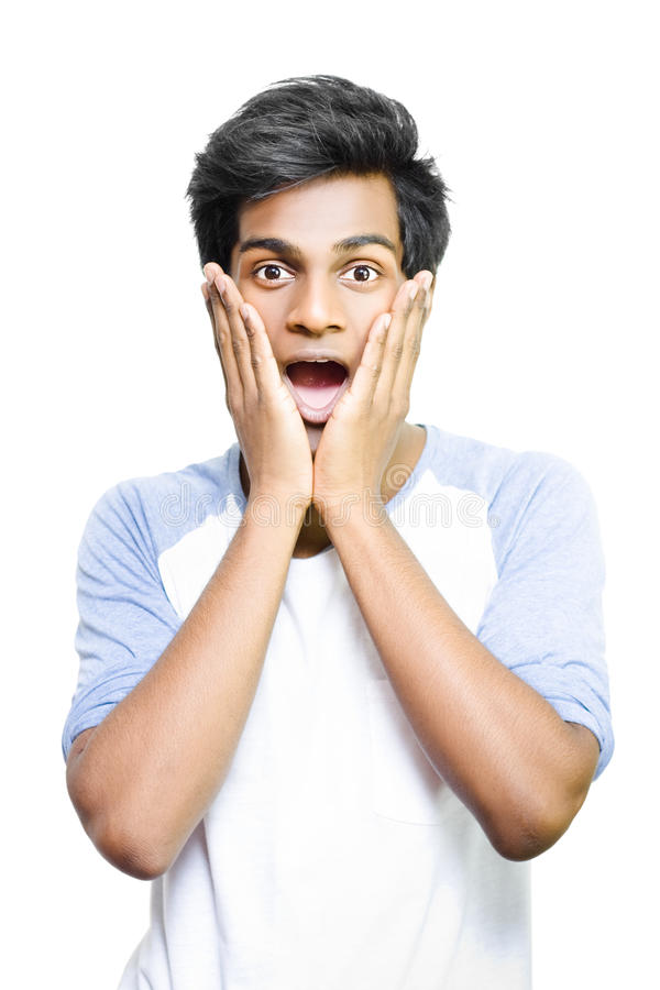 Download Surprised And Excited Young Asian Man Stock Photo - Image of amazement, consternation: 25630682