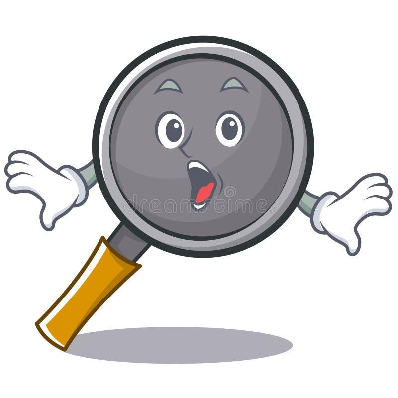 Surprised frying pan cartoon character. Vector illustration vector illustration