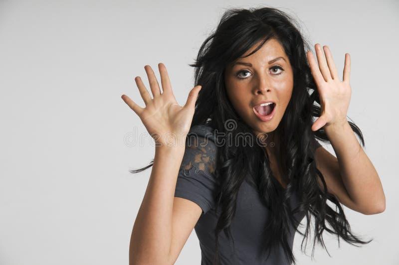 Surprised girl royalty free stock photos