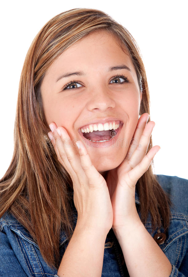 Download Surprised girl stock photo. Image of happiness, people - 21134618