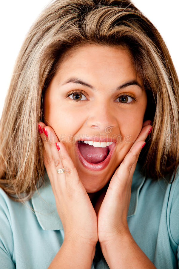 Download Surprised girl stock image. Image of amazed, people, smiling - 24737399
